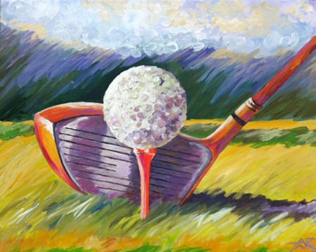 anne rosenvald golf course art
